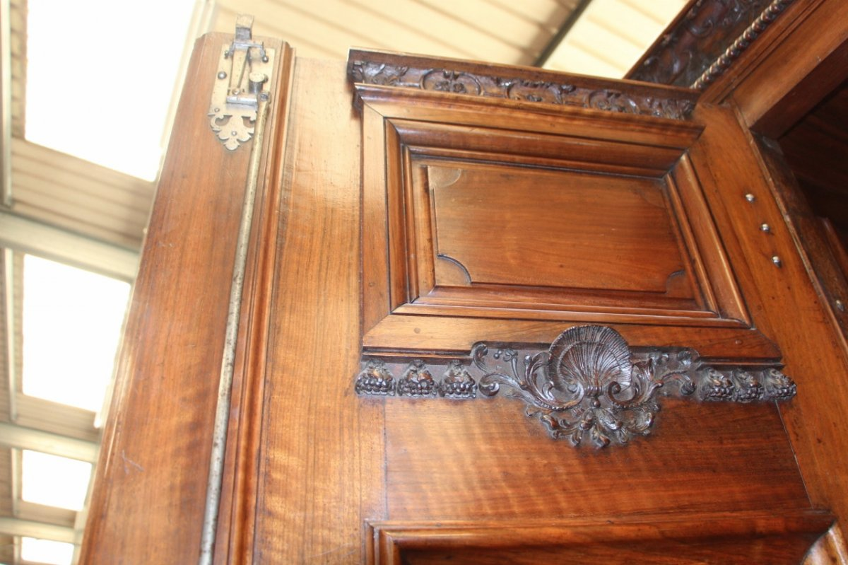 Important Chateau Presentation Cabinet, Regency Eighteenth Time-photo-3