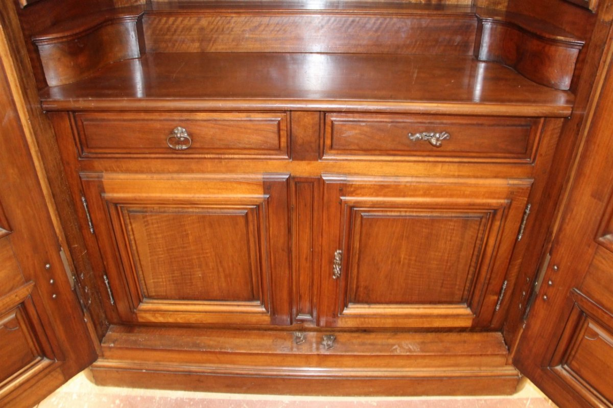 Important Chateau Presentation Cabinet, Regency Eighteenth Time-photo-4