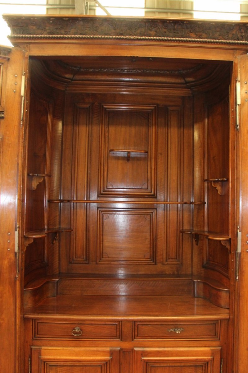 Important Chateau Presentation Cabinet, Regency Eighteenth Time-photo-5