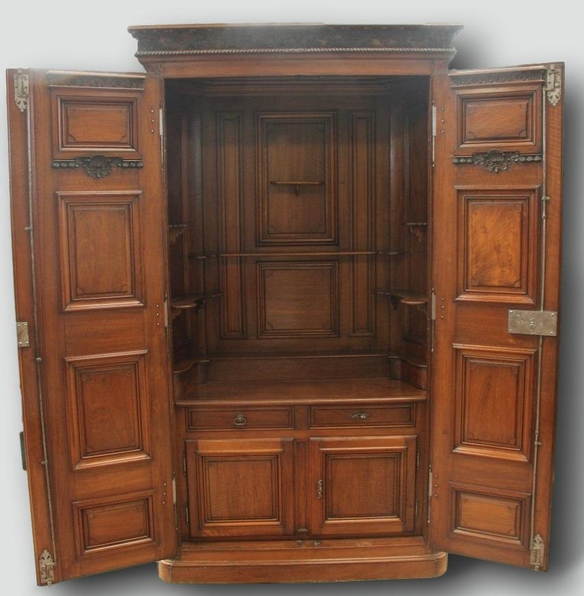 Important Chateau Presentation Cabinet, Regency Eighteenth Time