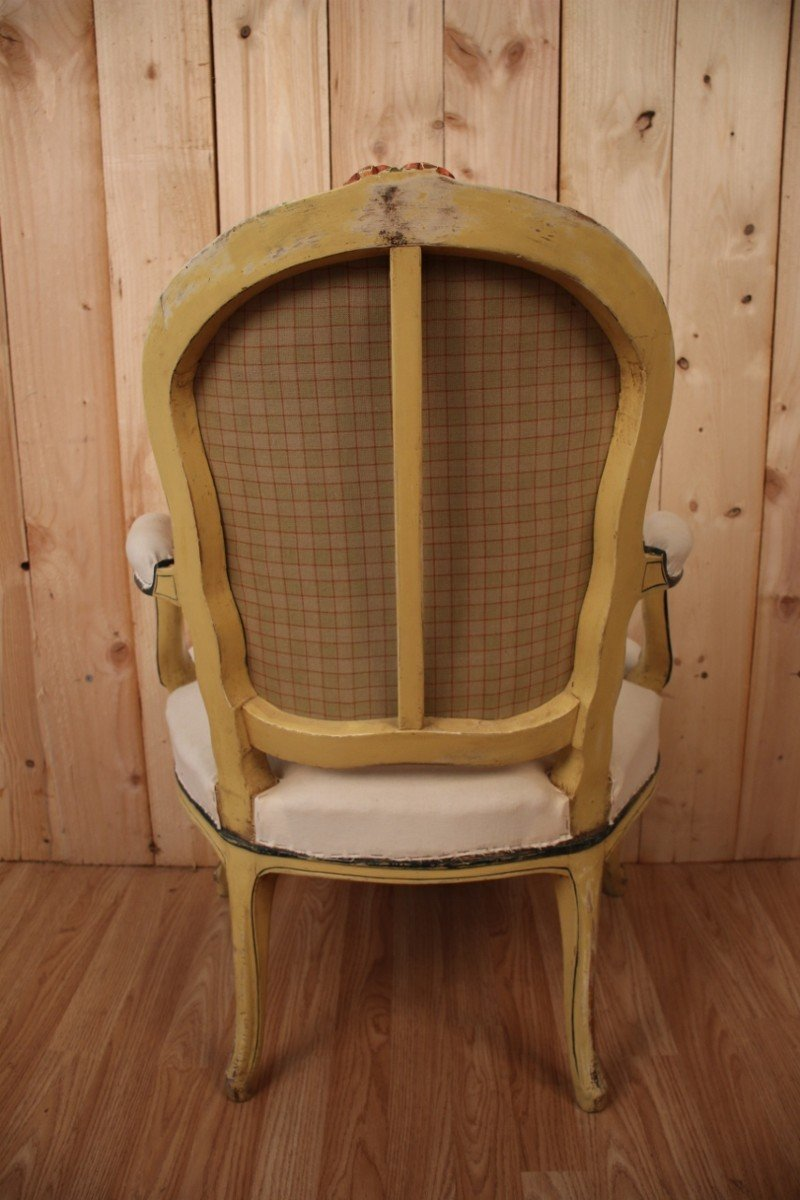 Louis XV Cabriolet Armchair Stamped N.blanchard-photo-3