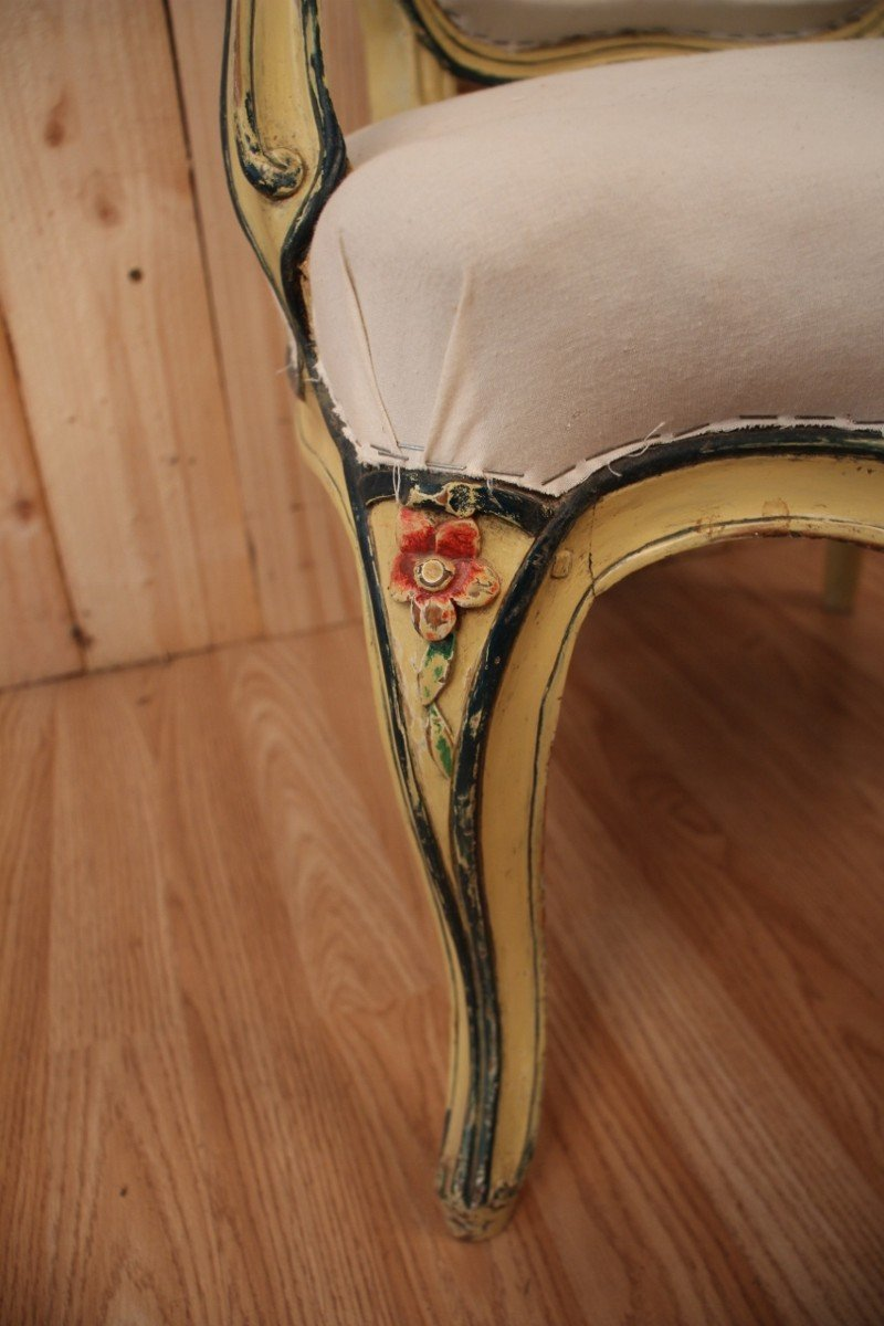 Louis XV Cabriolet Armchair Stamped N.blanchard-photo-2