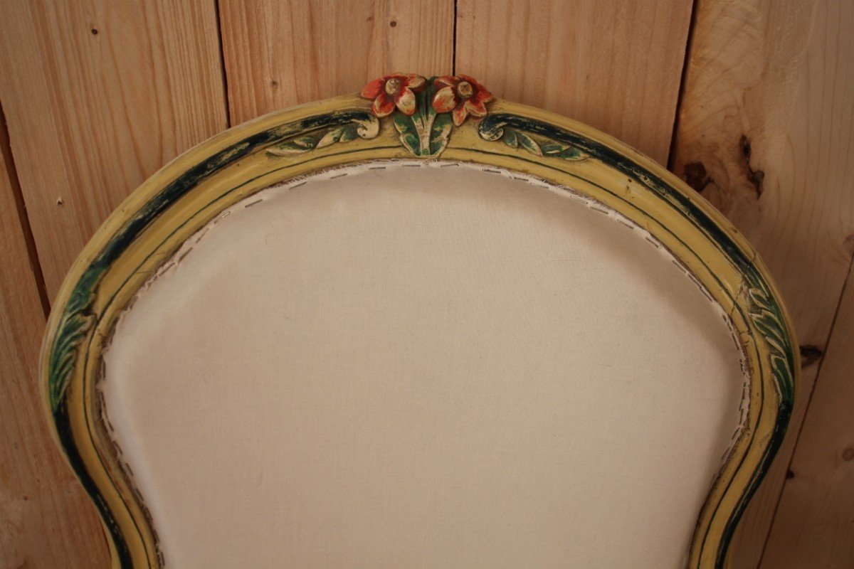 Louis XV Cabriolet Armchair Stamped N.blanchard-photo-4