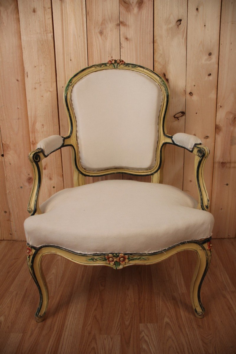 Louis XV Cabriolet Armchair Stamped N.blanchard-photo-6