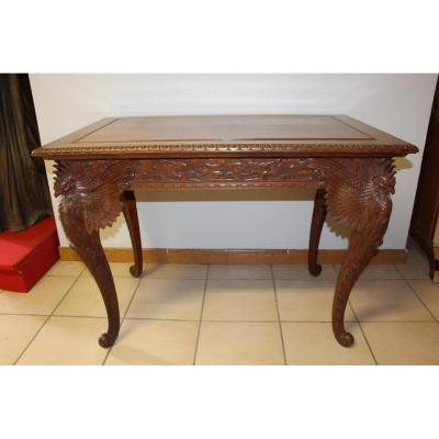 Table Carved Middle Of The Nineteenth Time