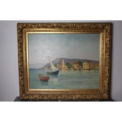 Grande Peinture De Louis Lartigau