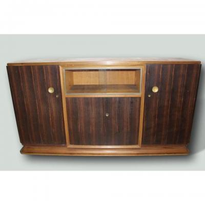 Art Deco Sideboard In Macassar Attributed To Auguste Vallin