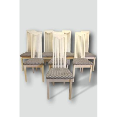 Series Of Eight Mackintosh Style Chairs