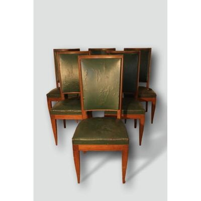 Series Of 6 Art Deco Mahogany Chairs