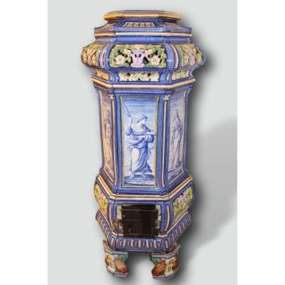 Earthenware Stove Toul-bellevue, Decor By Auguste Majorelle