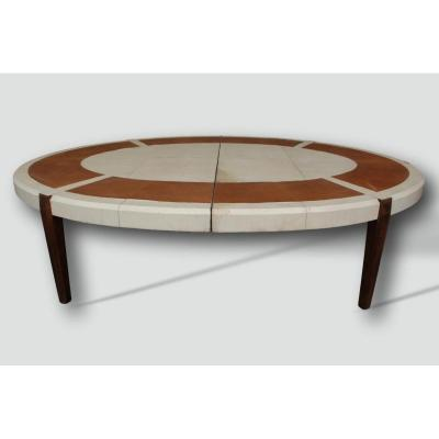 Large Conference Table Year 40 In Leather And Parchment