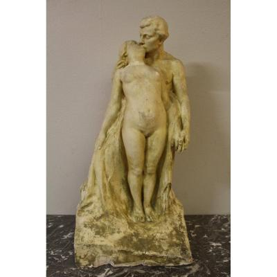 Large Preparatory Workshop Sculpture By Alfred Finot For The