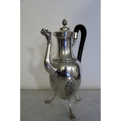 Jug In Sterling Silver, France XVIIIth By Milleraud Bouty