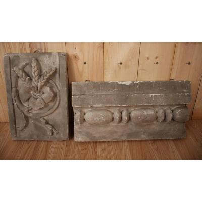 Deux Plâtres d'Atelier De Sculpture