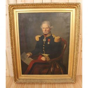 Immense Portrait Du Baron Général Gorsse , Député Et Maire d'Albi 1853