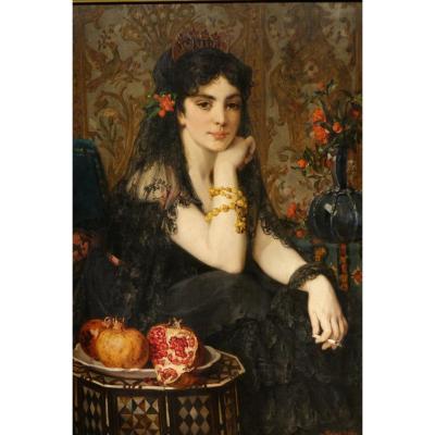 """""""La belle Andalouse"""", Paul SAINT-JEAN ( 1842-1875)"""