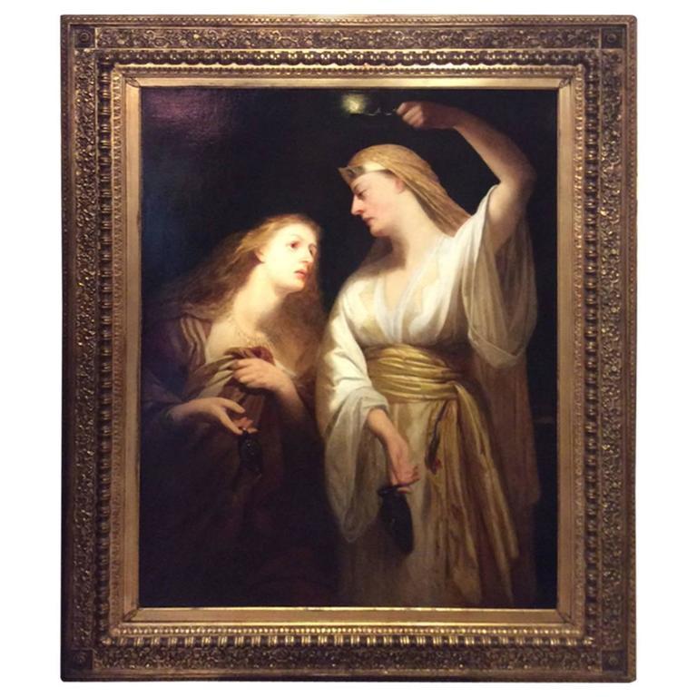 Deux Femmes Drapées A l'Antique, Ecole Anglaise