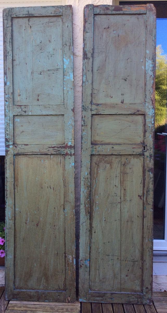 Paire De Portes Peintes Marocaines-photo-3