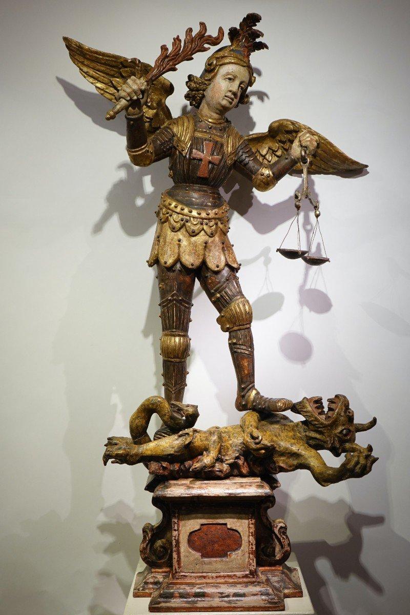 Saint Michel Terrassant Le Mal, Allemagne Du Sud Ou Italie Du Nord, 17e S.