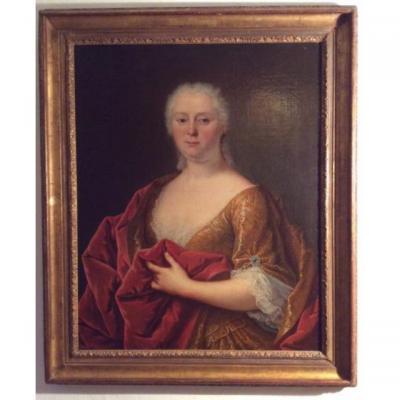 Portrait d'Une Aristocrate ,vers 1700
