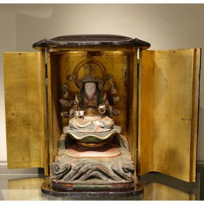 Autel Japonais En Laque, Période Edo (1603-1868)