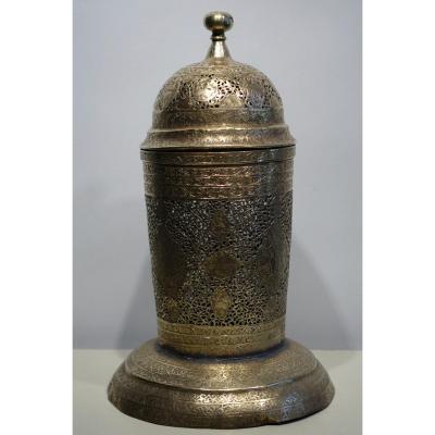 Brûle-parfum En Laiton,perse,19e S.