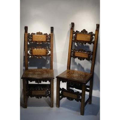 Two Italian Chairs Decorated