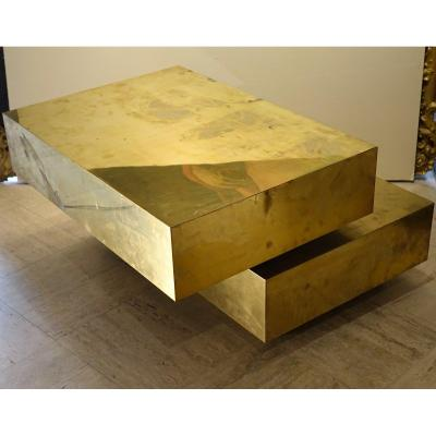 "Table Basse  ""Magic cube"",Gabriella CRESPI,circa 1970"