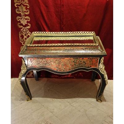 Table Basse De Style Boulle, 19e S.