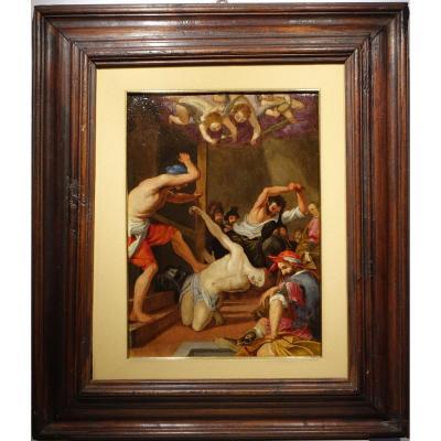 """""""martyr d'un saint non identifié"""",huile sur cuivre,Italie,vers 1580."""