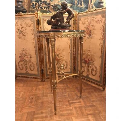 Louis XVI Style Gilt Bronze Pedestal Table. Beginning Of The XXth Century