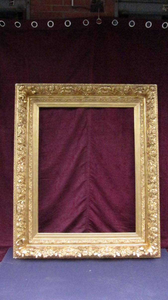 Grand Cadre Dore d'Epoque Napoleon III Dit  Neo-louis XIII