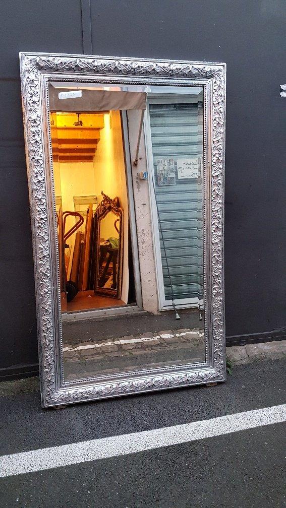 Silver Mirror, Art Nouveau Period Around 1895