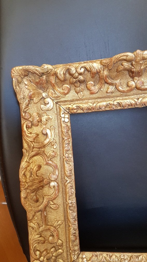 Louis XIV Period Frame In Carved And Golden Oak-photo-2