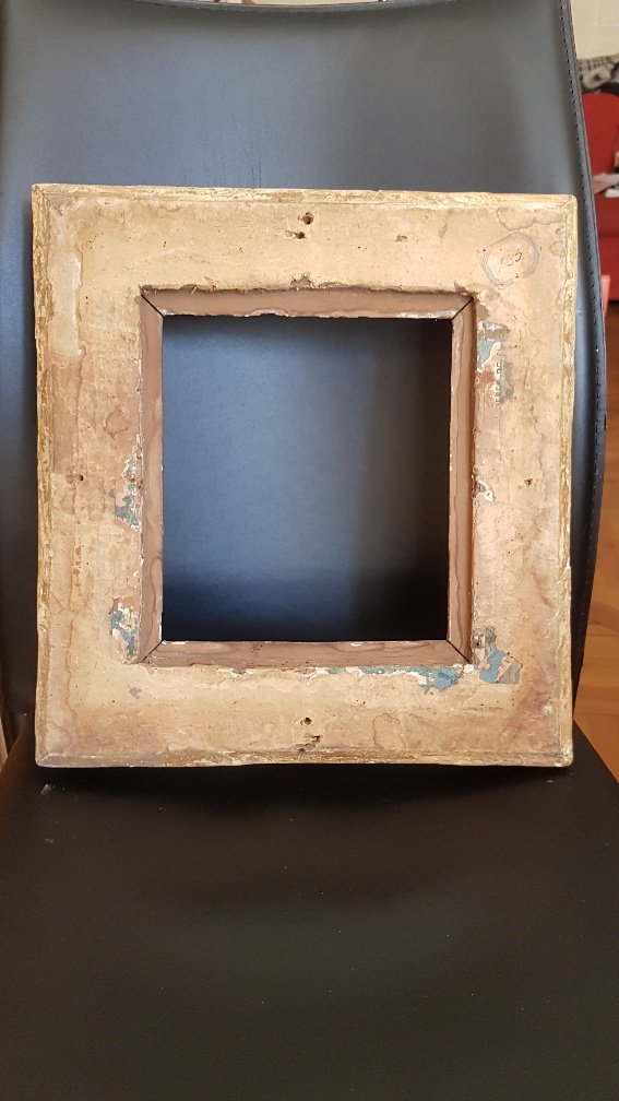 Louis XIV Period Frame In Carved And Golden Oak-photo-4