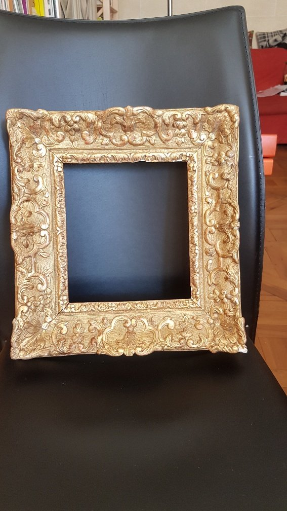 Louis XIV Period Frame In Carved And Golden Oak