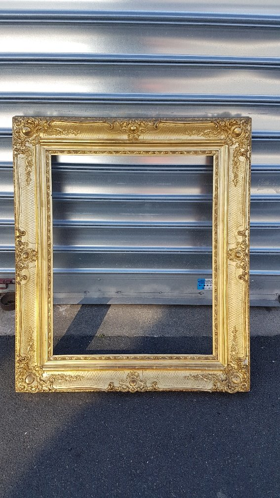 Wood And Golden Stucco Frame Louis XV Style
