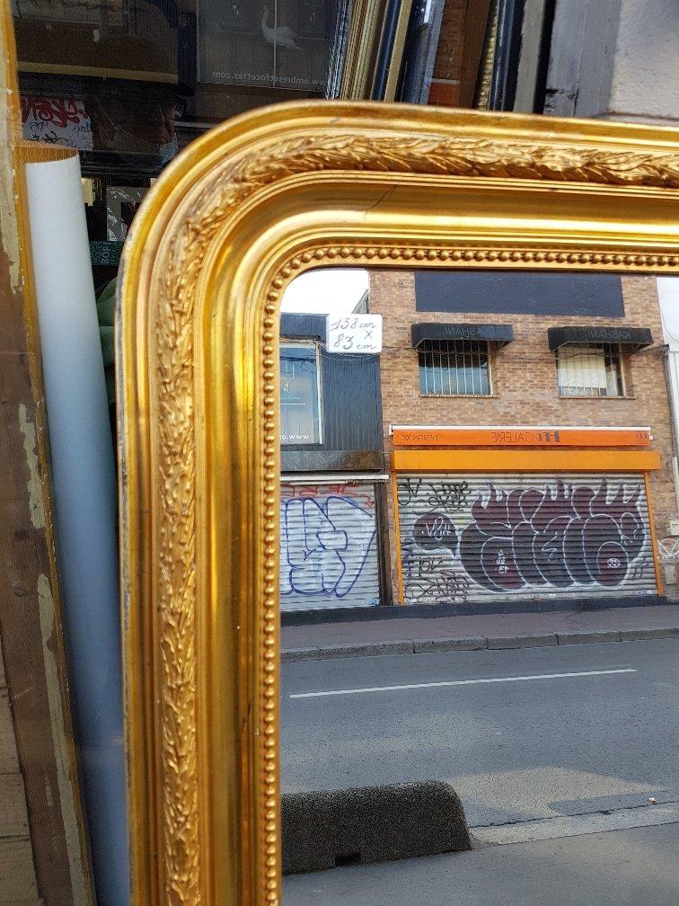 Miroir Doré De Style Louis-philippe