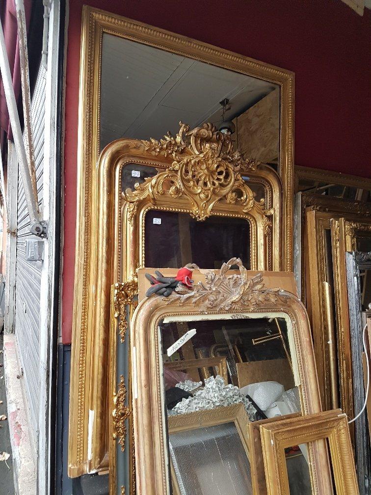 Gilded Mirror Of Louis XVI Style