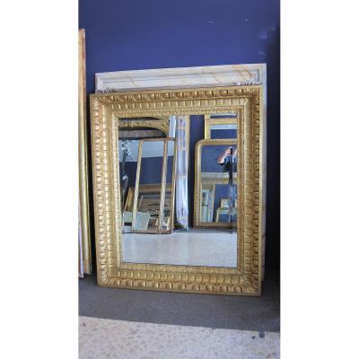 Grand Miroir Italien En Bois Sculpte