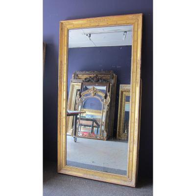 Miroir d'Epoque Empire Et Glace Au Mercure