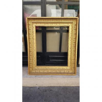 First Empire Period Frame In Wood And Golden Stucco