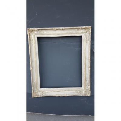 Cadre montparnasse en bois et stuc patine gris de style louis XV