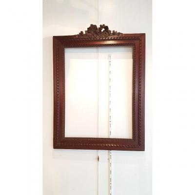 Louis XVI Style Frame In Carved Mahogany Around 1870