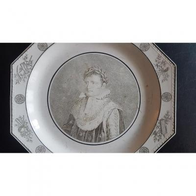 Pair Of Plates In The Effigy Of The Emperor Napoleon First And Marie-louise Of Austria