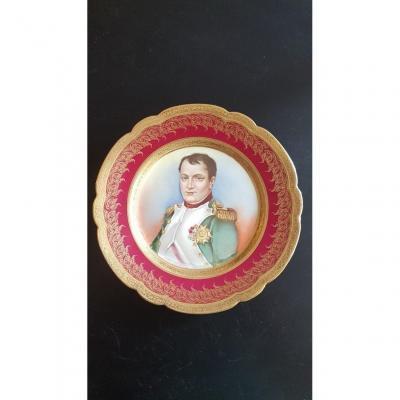 Paire d'Assiettes à l'Effigie De Napoléon Premier Et De l'Impératrice Joséphine