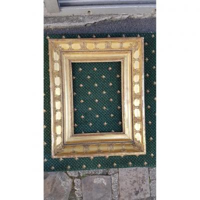 Empire Period Frame In Wood And Golden Stucco