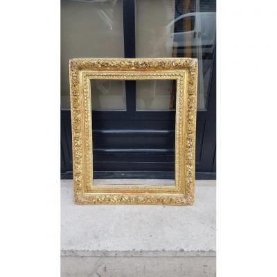Wooden Frame And Golden Stucco Louis XIII Style
