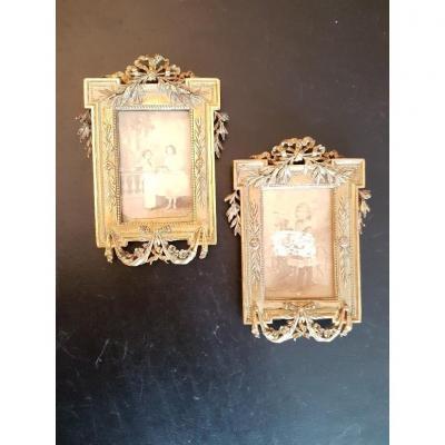 Pair Of Frames In Gilt Bronze Napoleon III