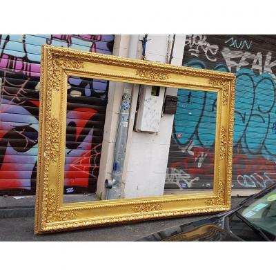 Large Golden Frame Around 1870 Neo-renaissance Style (view: 212cm X 140 Cm